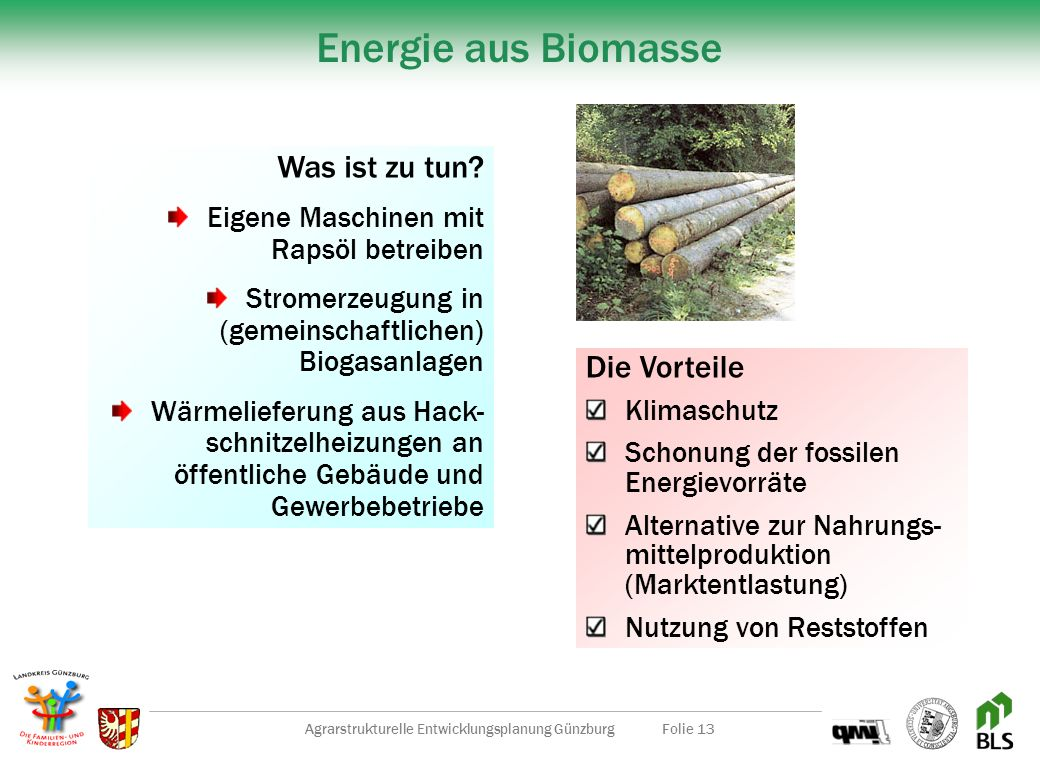 Agrarstrukturelle Entwicklungsplanung Günzburg