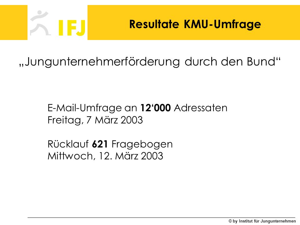 Resultate KMU-Umfrage