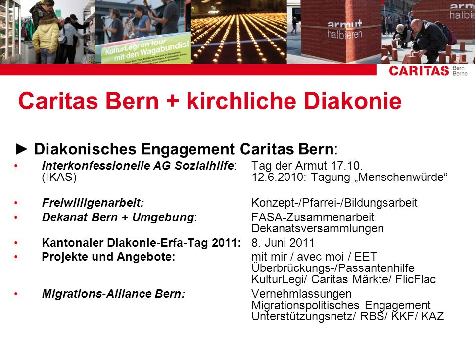 Caritas Bern + kirchliche Diakonie