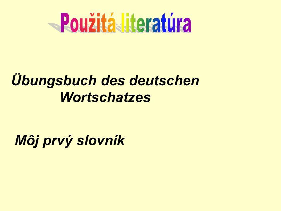 Übungsbuch des deutschen Wortschatzes