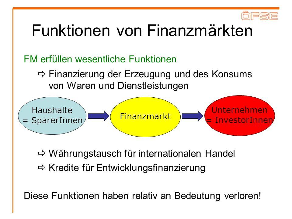 Funktionen von Finanzmärkten