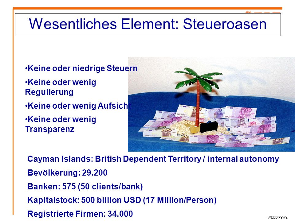 Wesentliches Element: Steueroasen