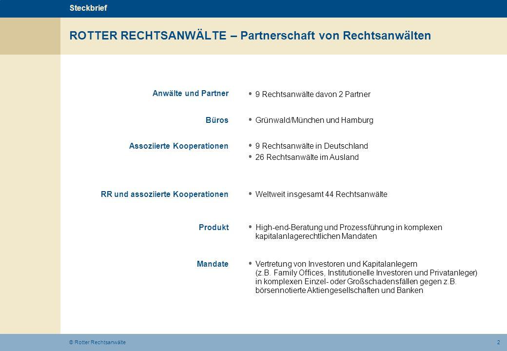 ROTTER RECHTSANWÄLTE – Partnerschaft von Rechtsanwälten