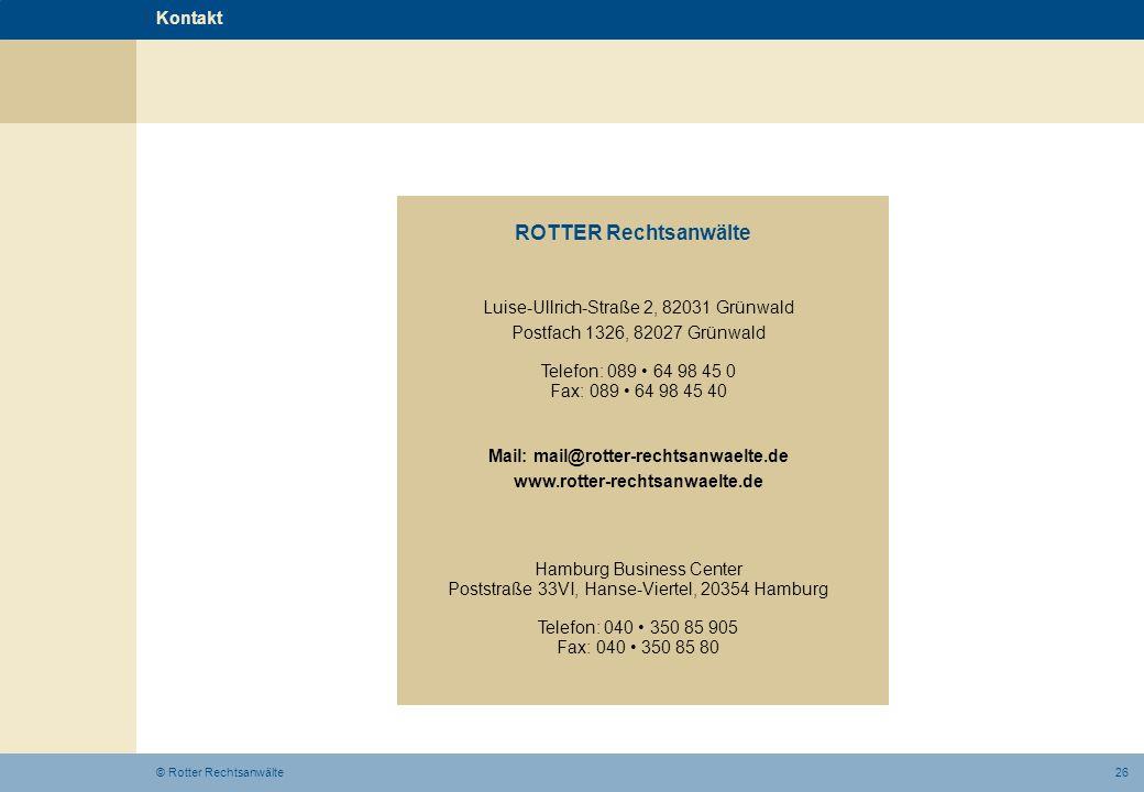 Mail: mail@rotter-rechtsanwaelte.de