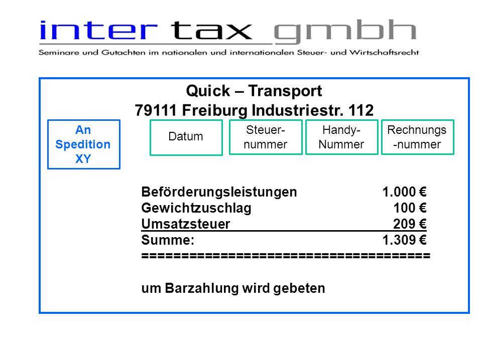 79111 Freiburg Industriestr. 112