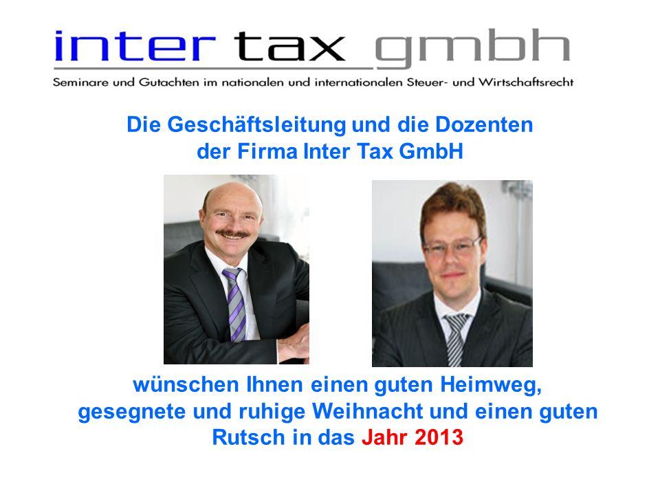 Die Geschäftsleitung und die Dozenten der Firma Inter Tax GmbH