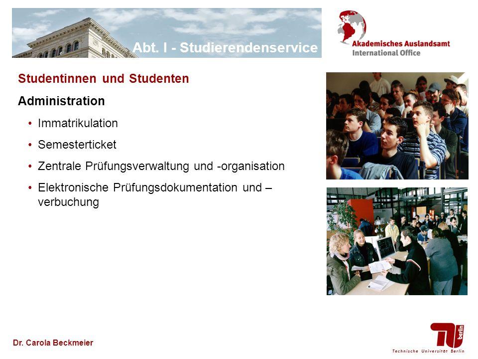 Studentinnen und Studenten Administration
