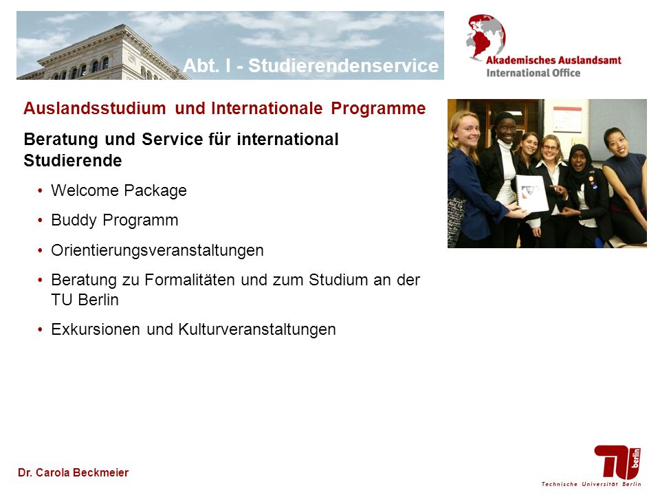 Auslandsstudium und Internationale Programme