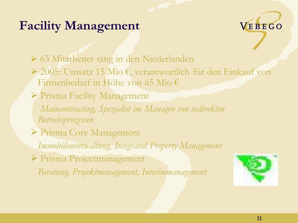 Facility Management 63 Mitarbeiter tätig in den Niederlanden.