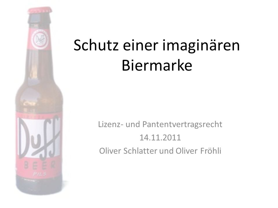Schutz einer imaginären Biermarke