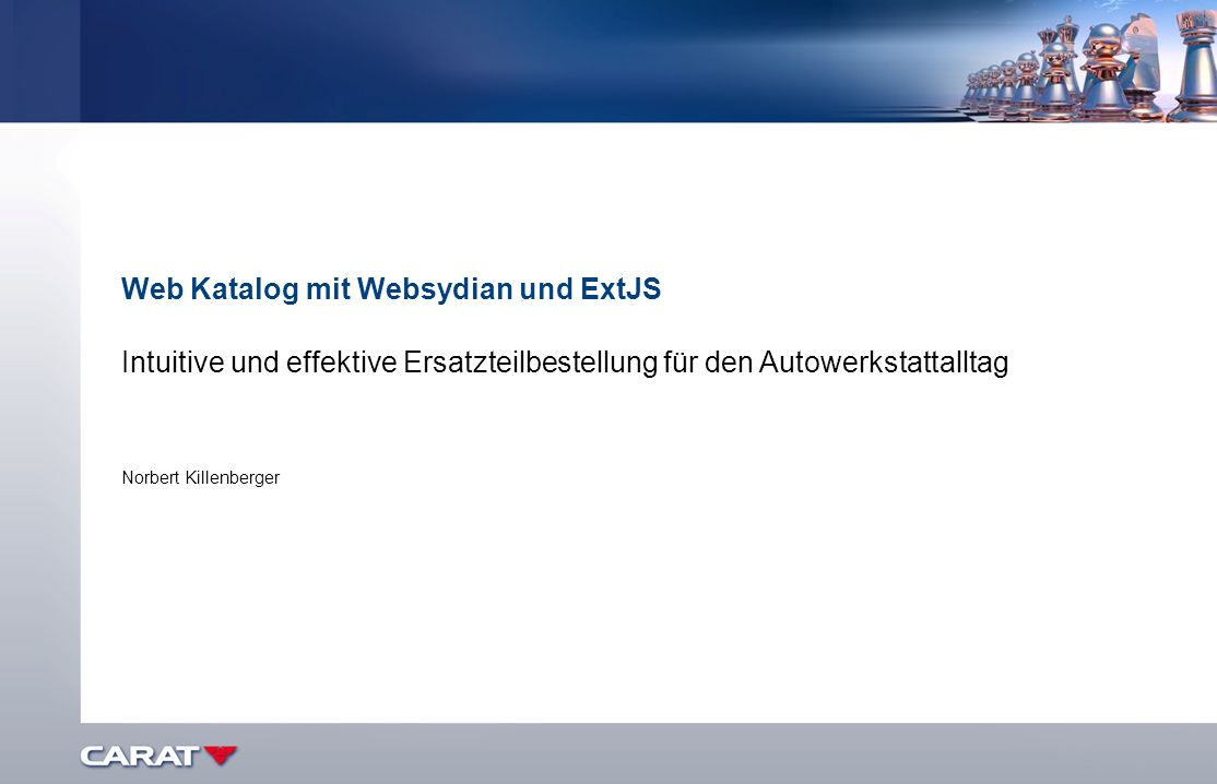 Web Katalog mit Websydian und ExtJS