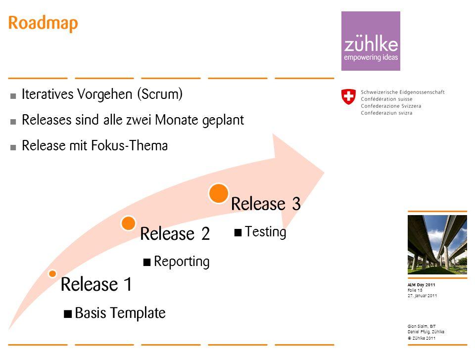 Release 1 Roadmap Release 3 Release 2 Basis Template