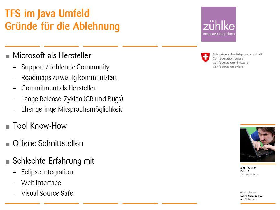 TFS im Java Umfeld Gründe für die Ablehnung