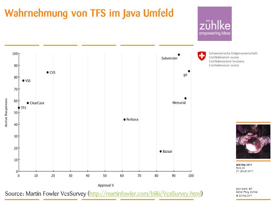 Wahrnehmung von TFS im Java Umfeld
