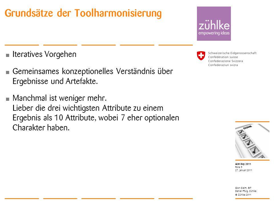 Grundsätze der Toolharmonisierung