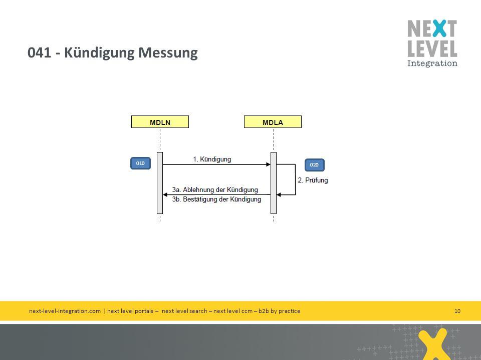 041 - Kündigung Messung 010. 020.