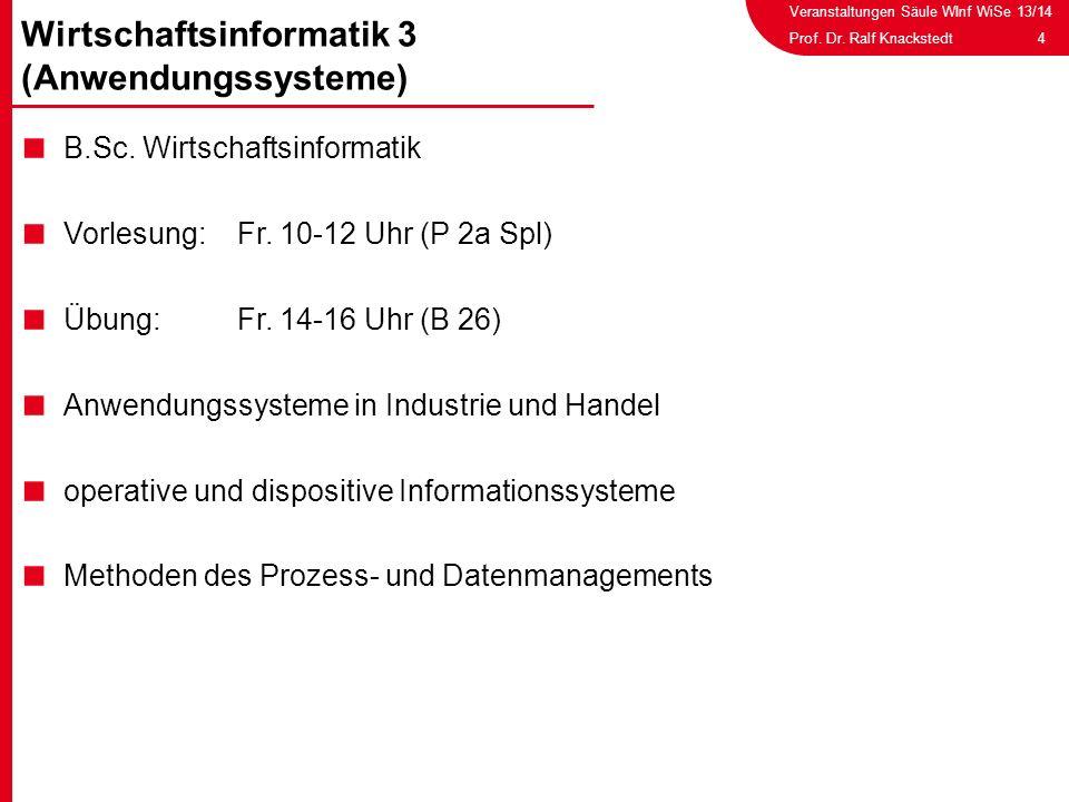 Wirtschaftsinformatik 3 (Anwendungssysteme)