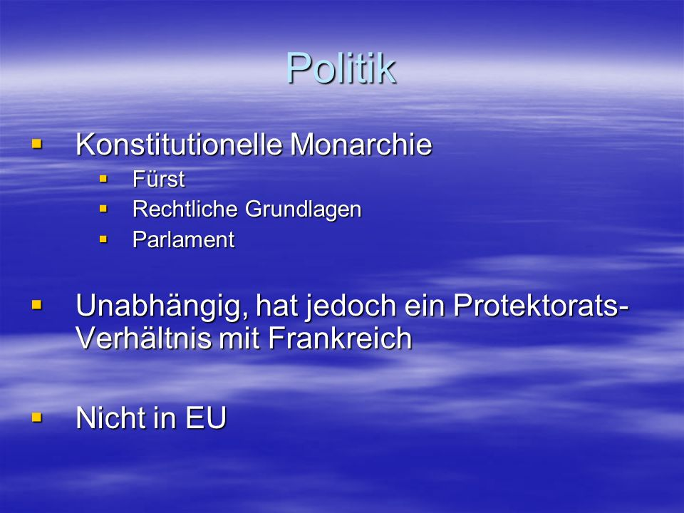 Politik Konstitutionelle Monarchie