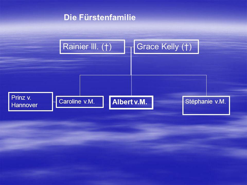 Die Fürstenfamilie Rainier lll. (†) Grace Kelly (†) Albert v.M.