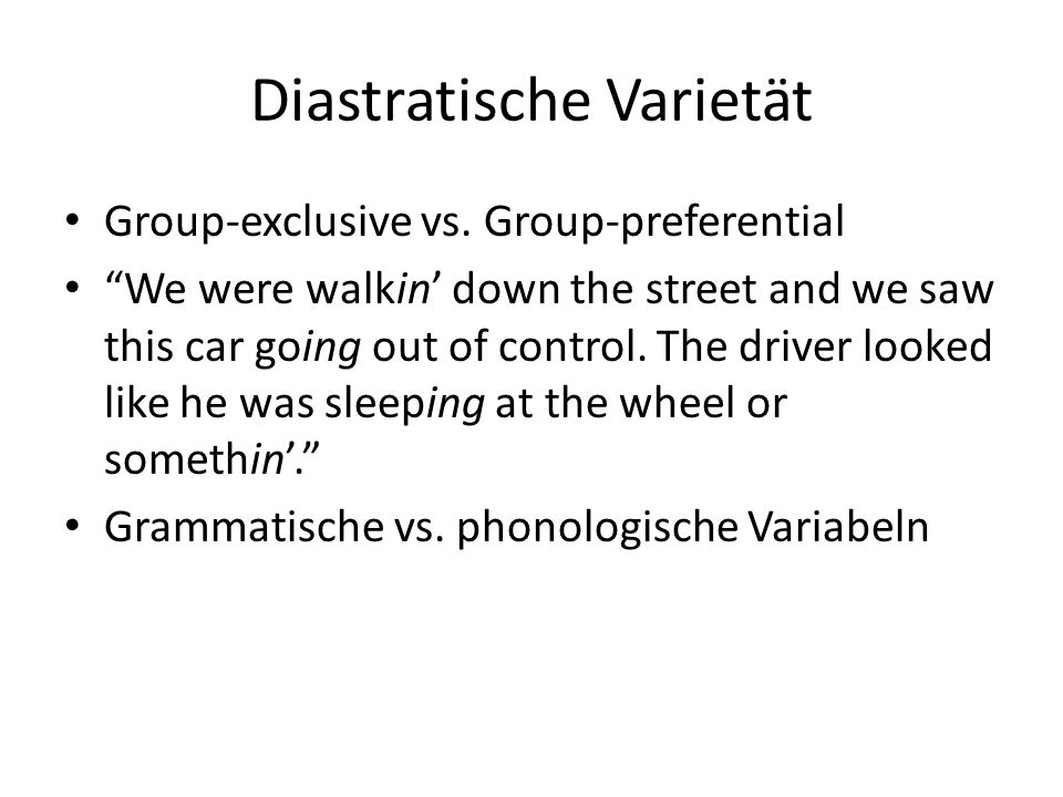 Diastratische Varietät