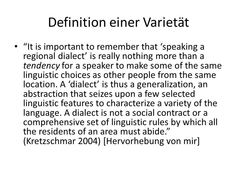Definition einer Varietät