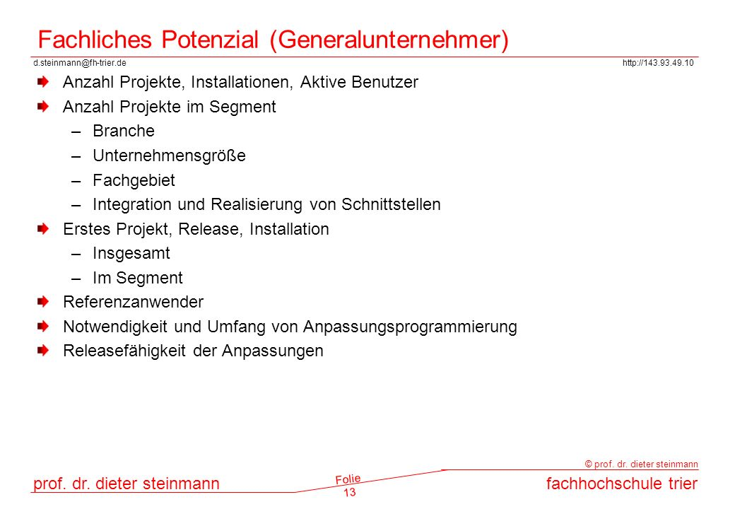 Fachliches Potenzial (Generalunternehmer)