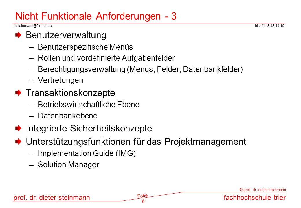 Nicht Funktionale Anforderungen - 3