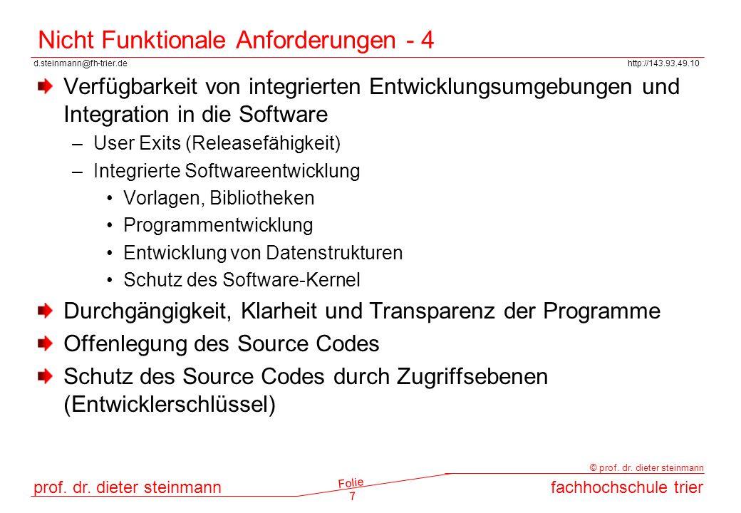 Nicht Funktionale Anforderungen - 4