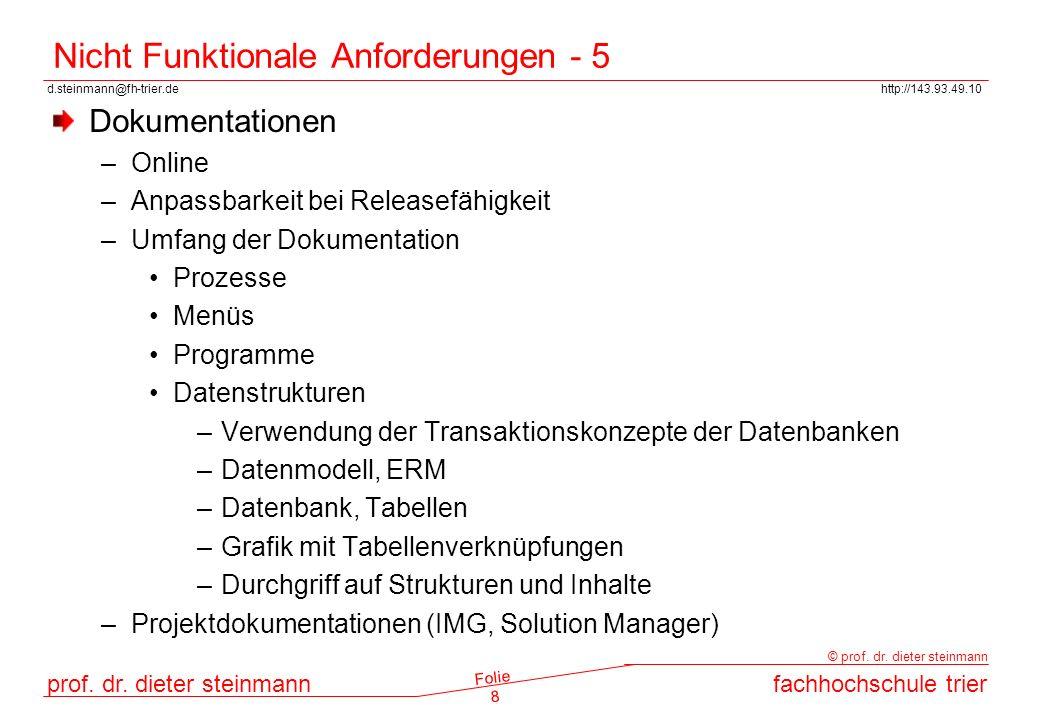 Nicht Funktionale Anforderungen - 5