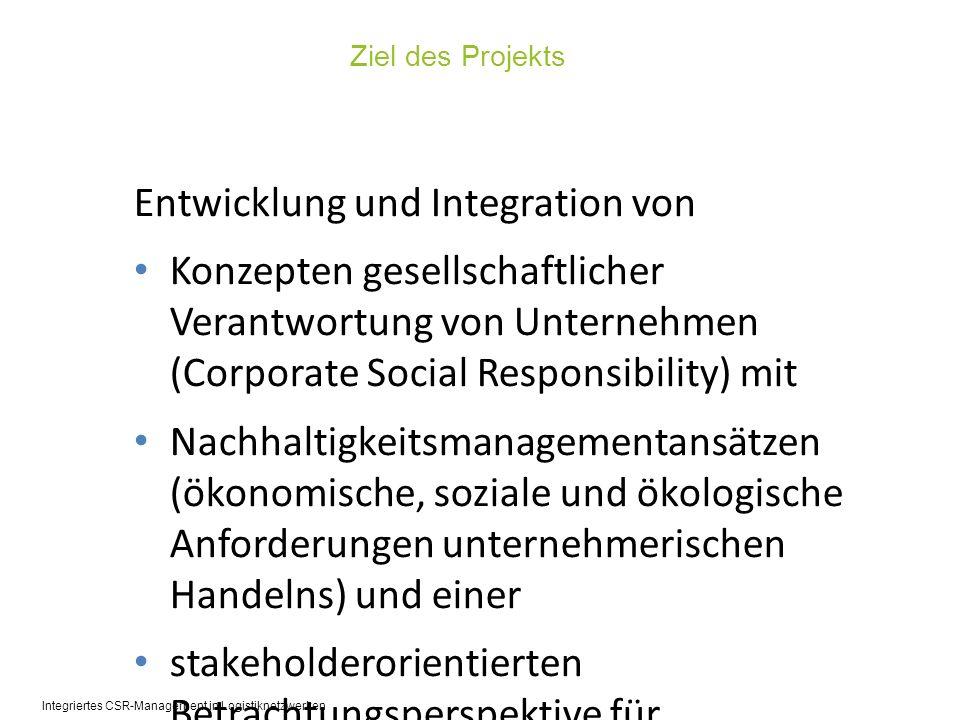 Entwicklung und Integration von