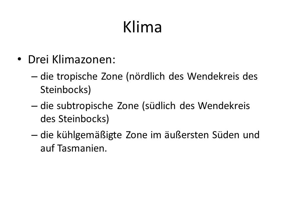 Klima Drei Klimazonen: