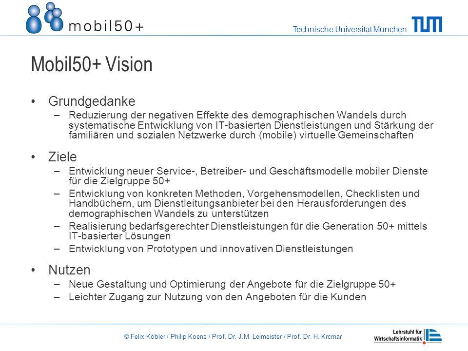 Mobil50+ Vision Grundgedanke Ziele Nutzen