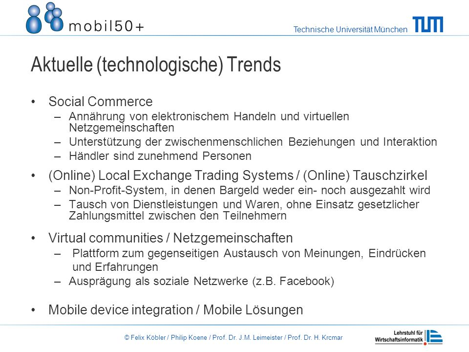 Aktuelle (technologische) Trends