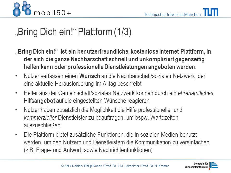 """""""Bring Dich ein! Plattform (1/3)"""