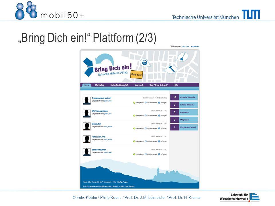 """""""Bring Dich ein! Plattform (2/3)"""