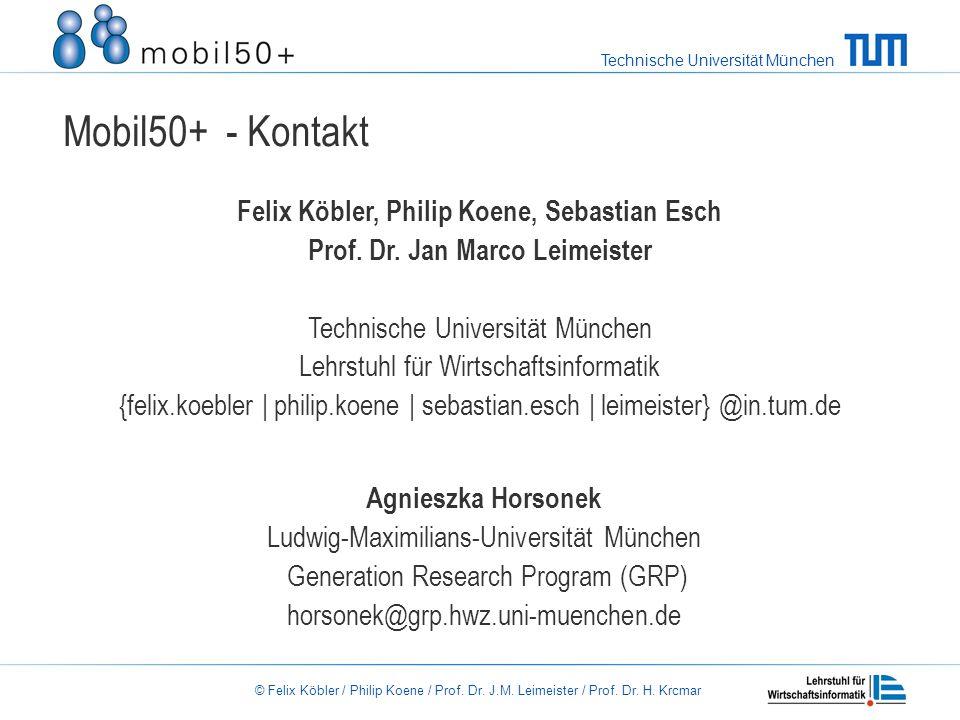 Mobil50+ - Kontakt Felix Köbler, Philip Koene, Sebastian Esch