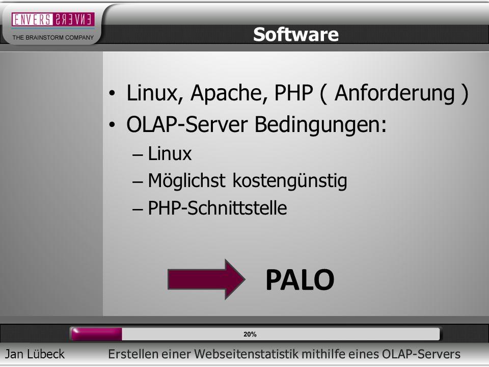 PALO Linux, Apache, PHP ( Anforderung ) OLAP-Server Bedingungen: