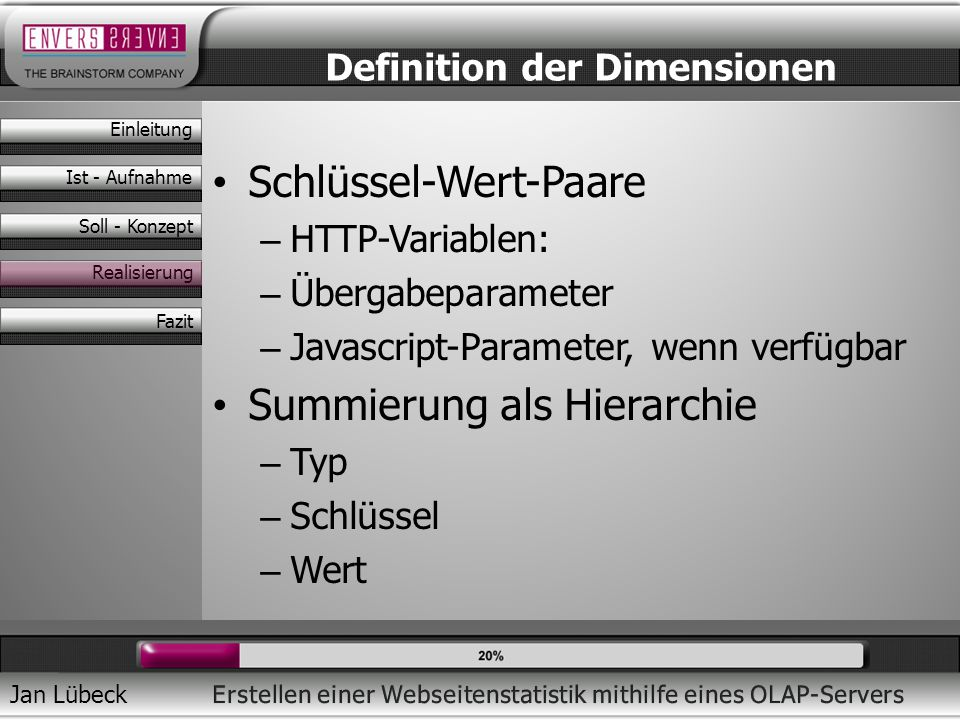 Definition der Dimensionen