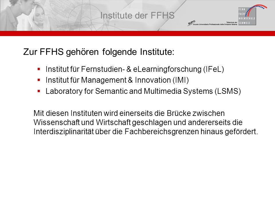 Zur FFHS gehören folgende Institute: