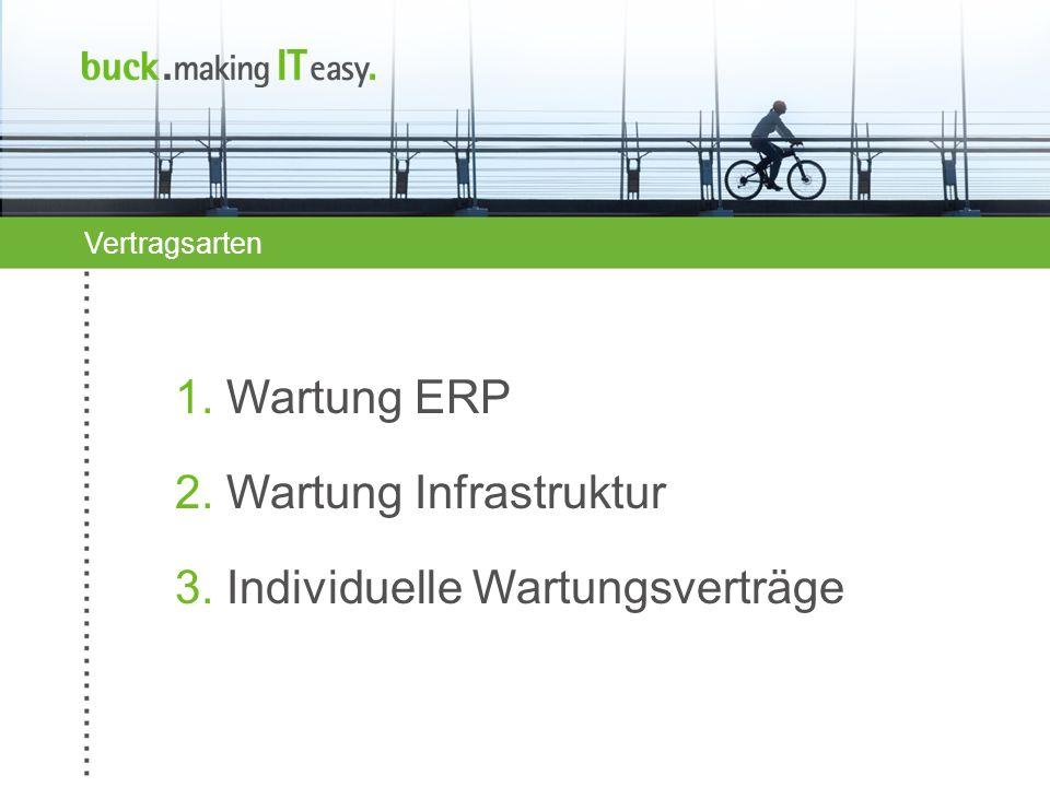 2. Wartung Infrastruktur 3. Individuelle Wartungsverträge