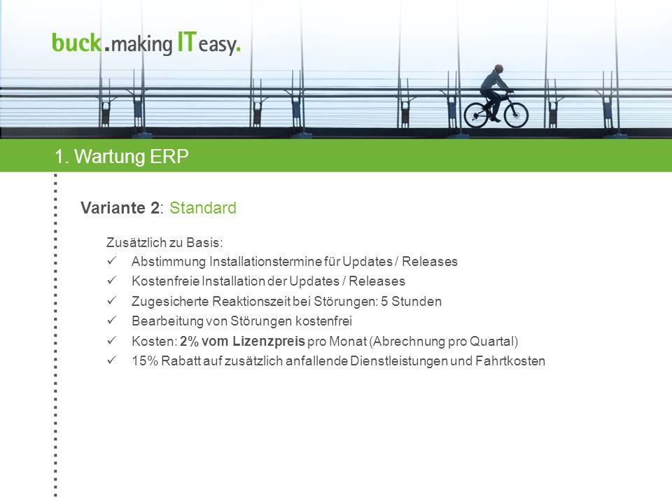 1. Wartung ERP Variante 2: Standard Zusätzlich zu Basis: