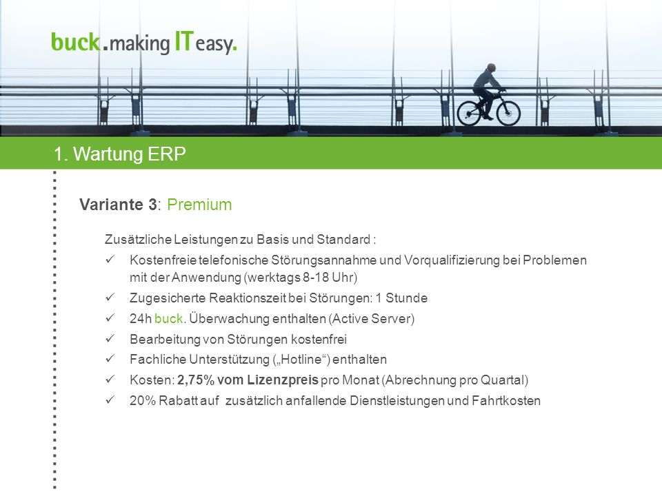 1. Wartung ERP Variante 3: Premium