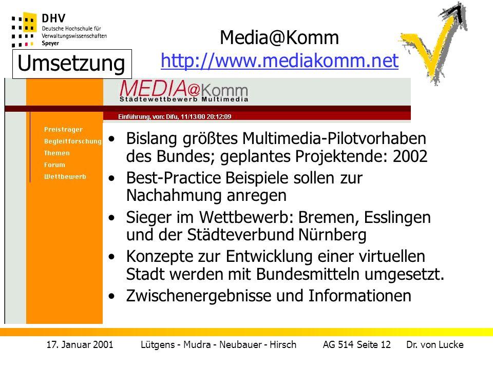 Media@Komm http://www.mediakomm.net