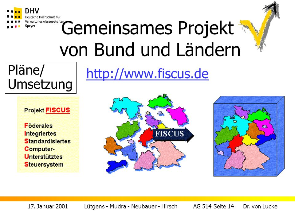 Gemeinsames Projekt von Bund und Ländern