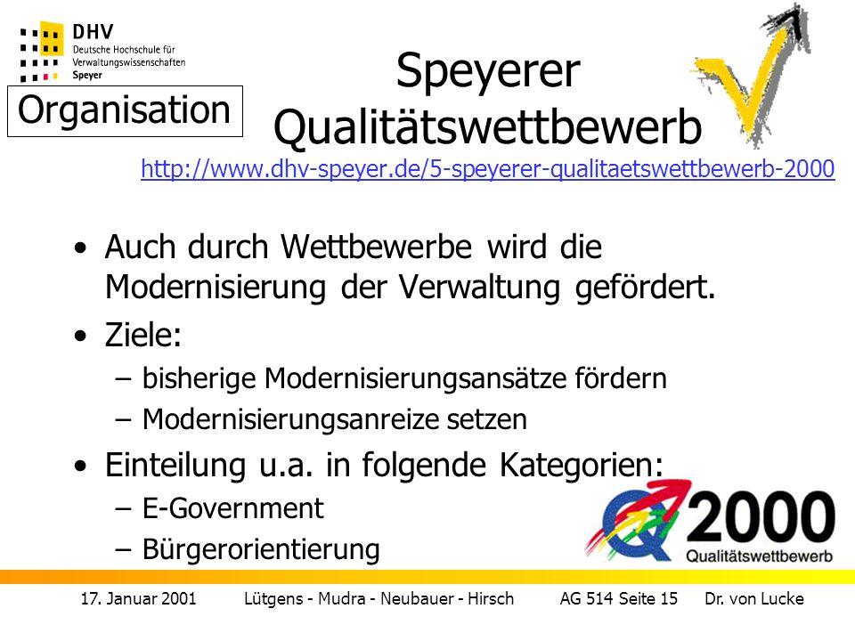Speyerer Qualitätswettbewerb http://www. dhv-speyer