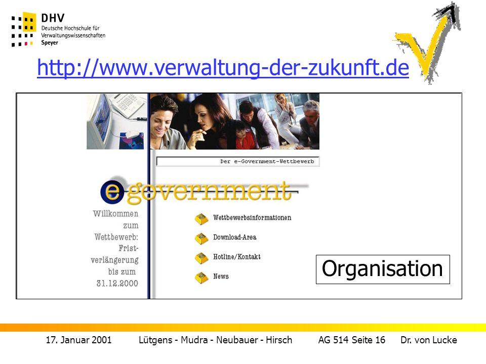 http://www.verwaltung-der-zukunft.de Organisation