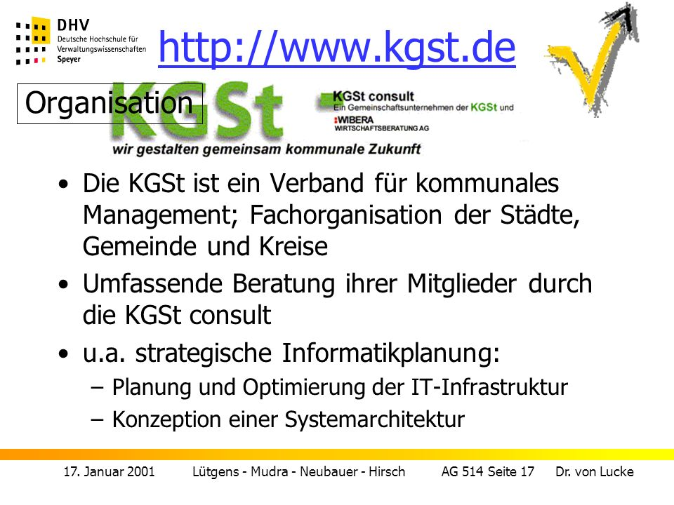 http://www.kgst.de Organisation