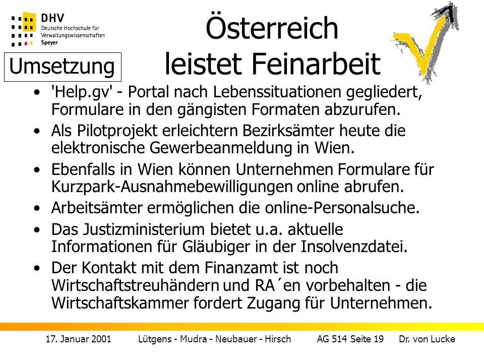Österreich leistet Feinarbeit