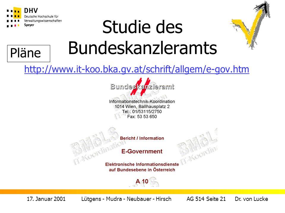 Studie des Bundeskanzleramts