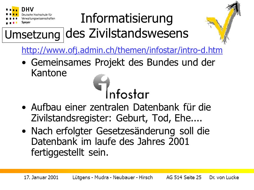 Informatisierung des Zivilstandswesens